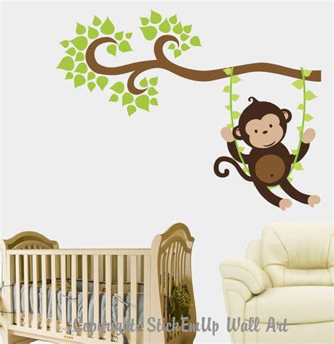 Fathead Wall Murals boy monkey swinging on a vine wall decal
