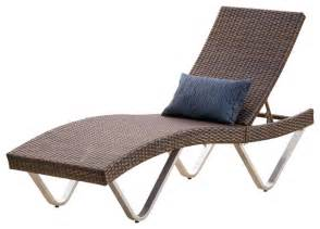 Outdoor Chaise Lounge Chair Manuela Outdoor Lounge Chair Contemporary Outdoor Chaise Lounges By Gdfstudio