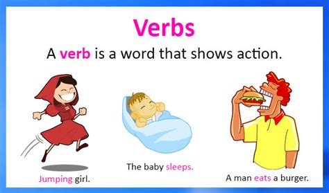 verbs definition types exles and worksheets