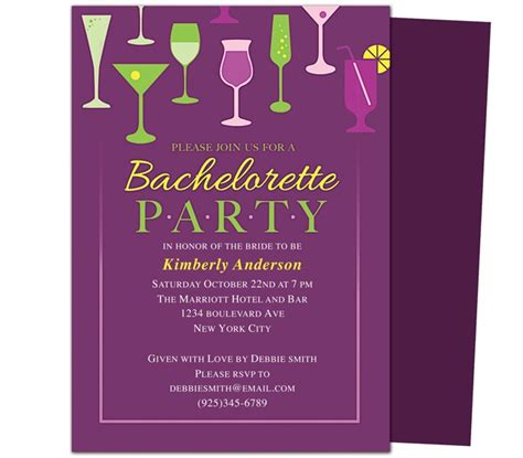 bachelorette invitations free template printable diy bachelorette invitations templates