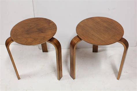 century plywood stylish mid century plywood stools by alvar aalto at 1stdibs