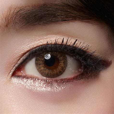 colored lenses buy geo tri color brown colored contacts eyecandys