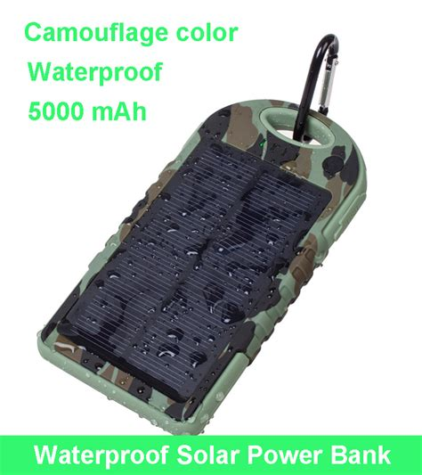 Power Bank Vivan S05 5000 Mah Limited 5000 mah camouflage color portable waterproof solar charger dual usb external battery pack power