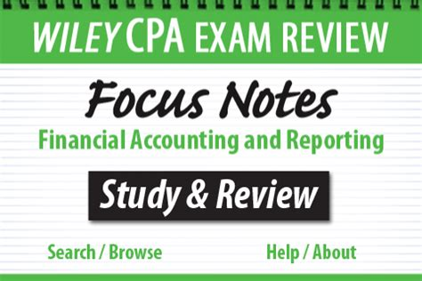 wiley cpaexcel review 2018 focus notes financial accounting and reporting books affordable mobile productivity and learning tools