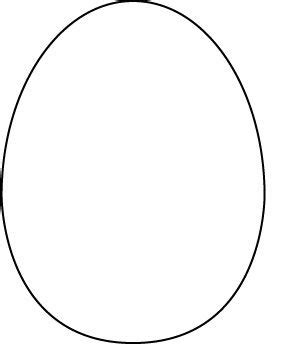 easter egg shaped card template egg template pre k ee