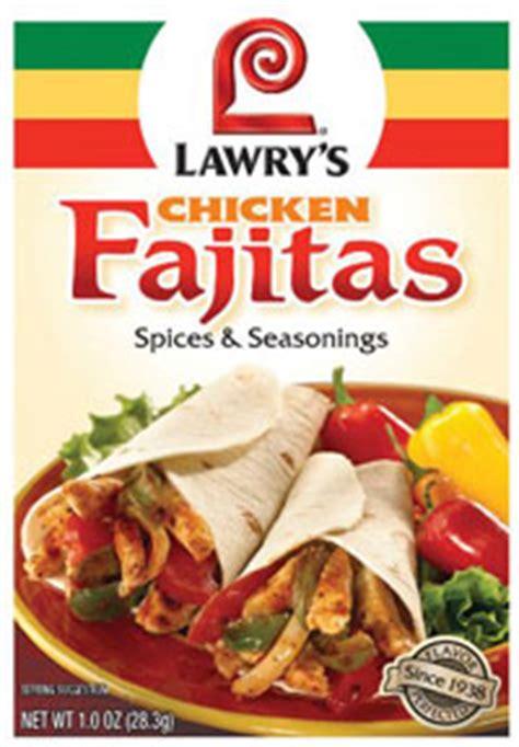 lawrys chicken fajita seasoning mix