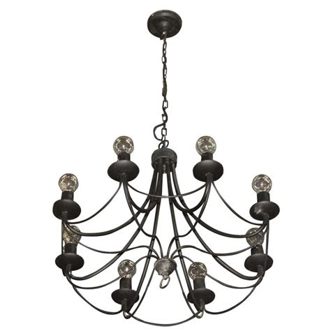 small black chandelier secondhand pub equipment lighting small black