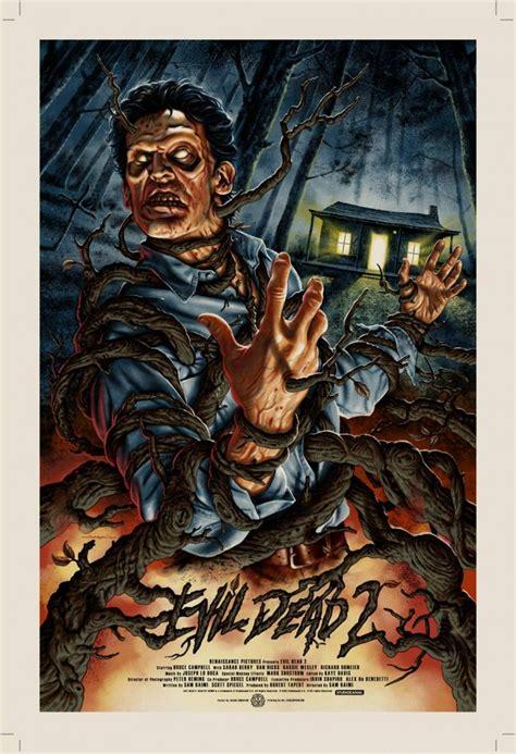horror movie evil dead part 2 evil dead 2 screen print jason edmiston