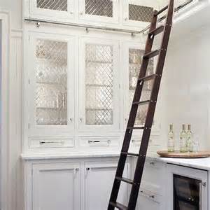 Cabinet Ladder by Brown And White Lattice Bone Cabinet