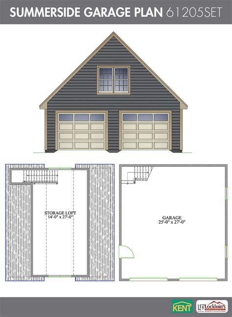 Free Garage Plans With Loft by Summerside Garage Plan 26 X 28 2 Car Garage 378 Sq