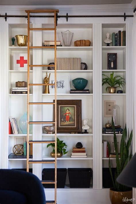 ikea bookcase built in hack laura s living room ikea billy bookshelves hack the