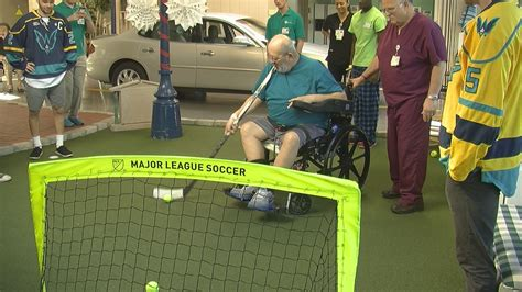 Url New Hanover Hospital Detox Program by Uncw Hockey Players Help Rehab Patients Grab The Gold