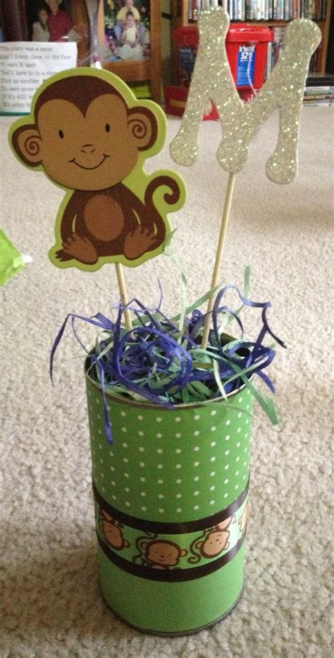 Monkey Baby Shower Centerpieces by Made These Monkey Centerpieces For A Baby Shower Baby