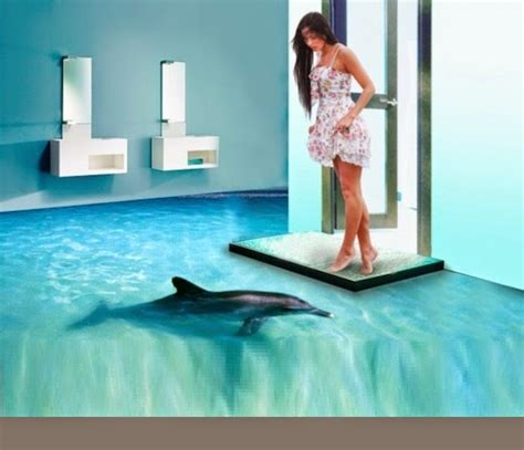 3d bathroom floor painting decor zoom
