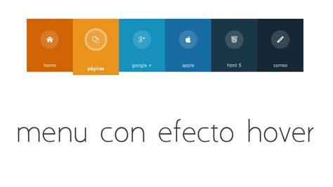 tutorial php y html5 tutorial html 5 y css3 crear menu horizontal con efecto