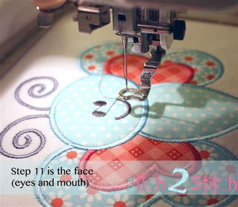 embroidery applique tutorial multi step embroidery tutorial with free design