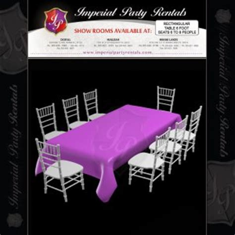 5 foot table seating rectangular table 6 foot seats 6 to 8 8 00