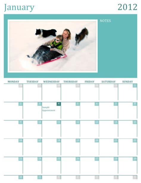 photo calendar template free photo calendar template for free formtemplate