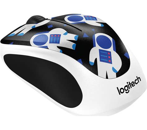 Mouse Wireless Logitech M238 buy logitech spaceman m238 wireless optical touch mouse black white free delivery currys