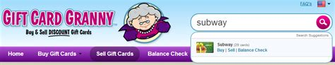 How To Check Subway Gift Card Balance - how to buy gift cards from gift card granny and save money