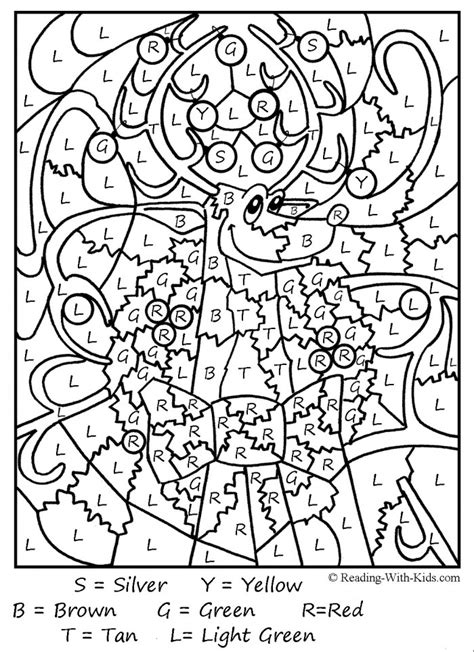 christmas color by number pages az coloring pages