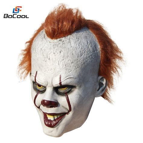 It Pennywise Clown Mask Costume stephen king s it pennywise mask costume scary
