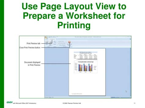 print layout view one page ppt powerpoint presentation to accompany go with