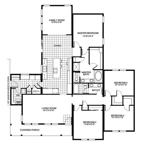 home builders floor plans the buckeye floor plan with 4 bedrooms and family room