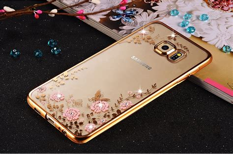Flowers Armor Soft Casing Swarovski For Samsung Galaxy J7 Prime wholesale samsung galaxy s7 secret garden electroplate