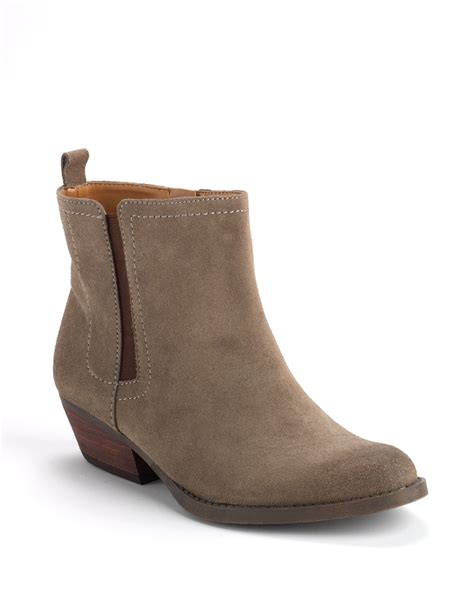 nine west boots nine west sosie suede ankle boots in brown taupe brown