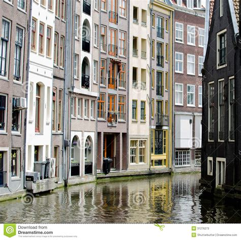appartment in amsterdam apartments on the water in amsterdam stock photos image