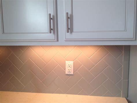 Kitchens With Subway Tile Backsplash herringbone grey backsplash home pinterest