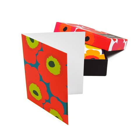 Gift Card Note - marimekko unikko note cards with envelopes unique gifts for a child