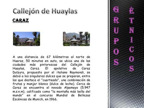 el callejn de los 8497931017 grupos 201 tnicos del callej 243 n de huaylas