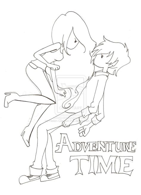 marceline and marshall lee coloring pages coloring pages