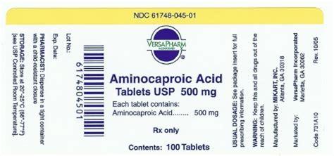Stearic Acid 500 Gram aminocaproic fda prescribing information side effects