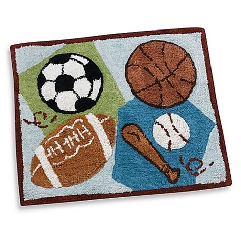 Cocalo Sports Fan Crib Bedding Cocalo Baby 174 Sports Fan Decorative Rug Bed Bath Beyond