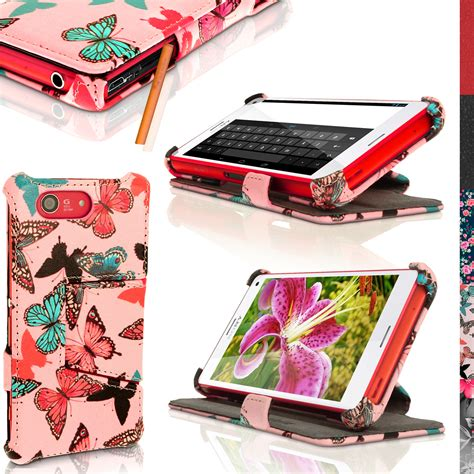 Casing Cover Sarung Pda Book Standing Xperia Z 2 Z2 pu leather flip for sony xperia z3 compact d5803 stand book folio cover