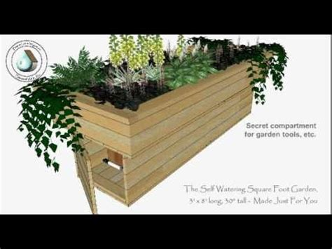 watering square foot garden youtube