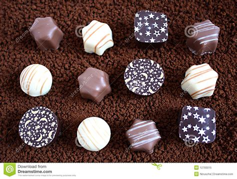 handmade chocolates stock image image of patterns shape