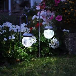 Crackle Globe Solar Lights - crackle globe solar lantern lights