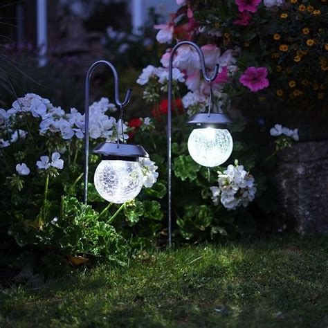 Outdoor Solar Lights Uk Crackle Globe Solar Lantern Lights