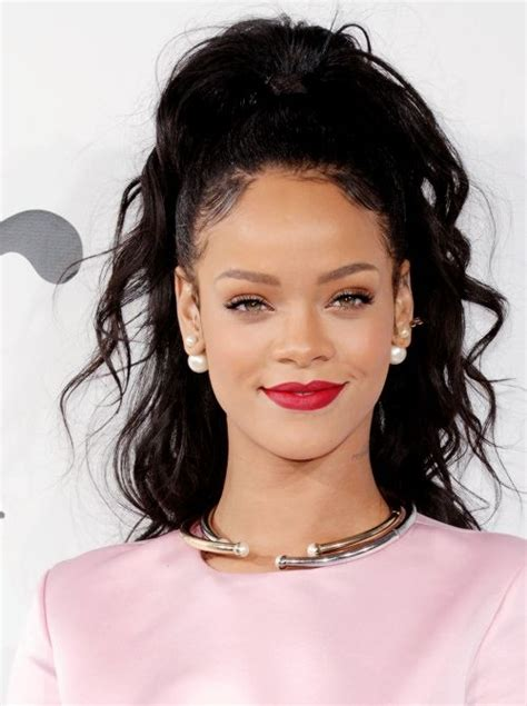 rihanna hairstyles half up half down let s get all kinds of inspo from rihanna s hair over the