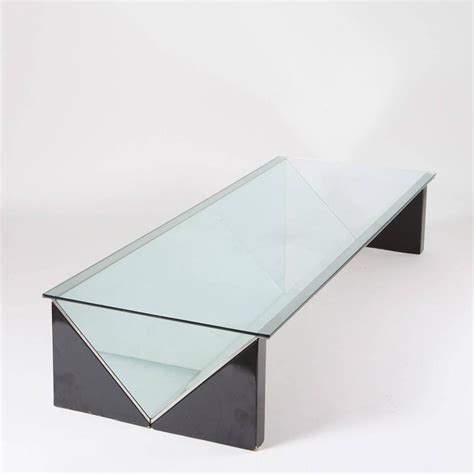 claudio fico glass desk quot napoleone quot low table by claudio salocchi for sormani for