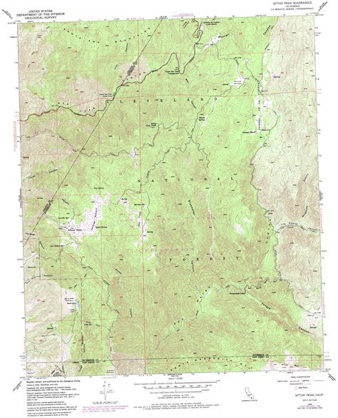 california map high resolution sitton peak topographic map ca usgs topo 33117e4