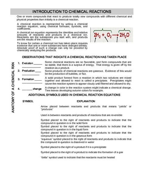 Introduction To Bonding Worksheet Answers by Introduction To Chemistry Worksheet Answers Worksheets