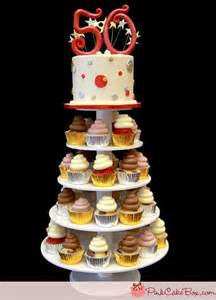 50th birthday cupcake tower