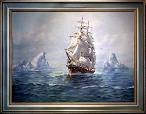 Painting In by Magnificent Humbero Da Silva Fernandes S Clipper Ship