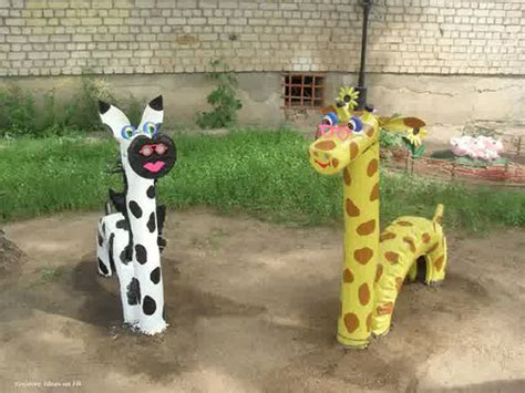 Animal Garden Accents Animal Shaped Garden Decor Using Tires Projects