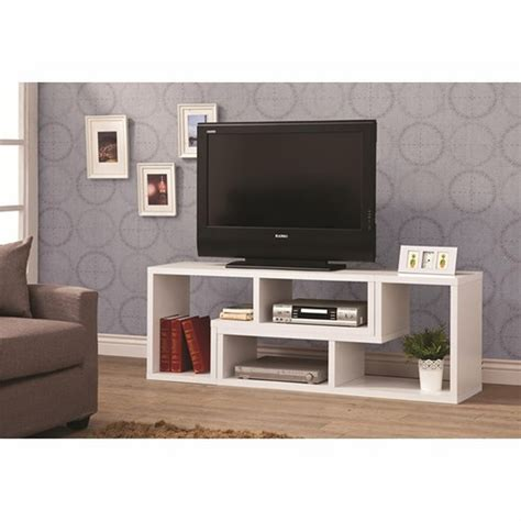tv stand desk combo coaster 800330 white wood tv stand steal a sofa